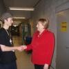 Danke für Ihren Besuch, Frau Kanzlerin.